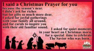 Praying For You At Christmas