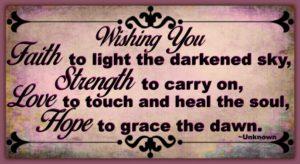 Faith, Strength, Love & Hope