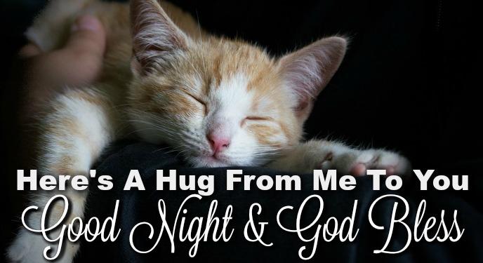 Night hug good Wednesday Good